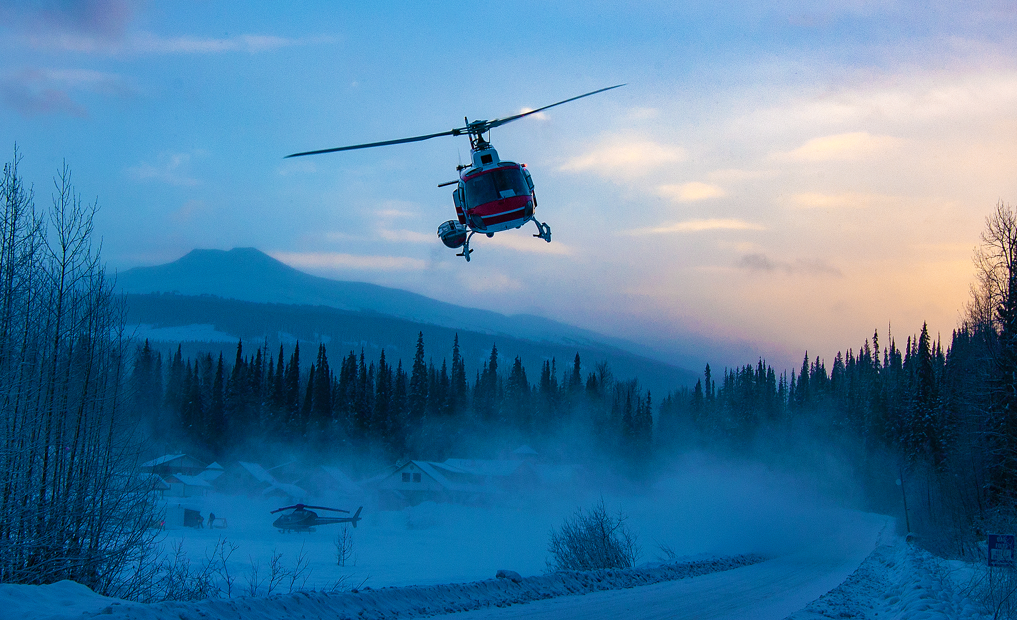 2003 / Last Frontier Heliskiing - liftoff for another powderday
